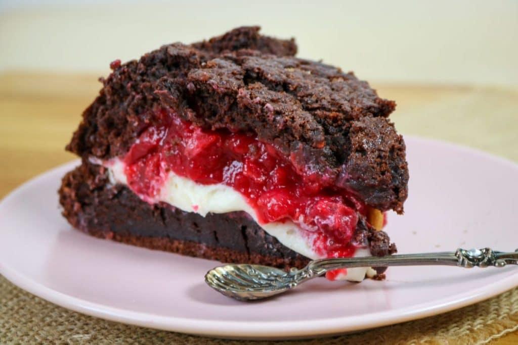 CBD Chocolate Cake with Vanilla and Cherry Filling Recipe
