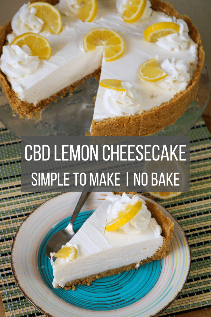 CBD Lemon Cheesecake, Simple to Make No Bake