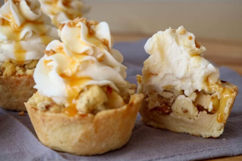easy CBD apple pie cupcakes recipe