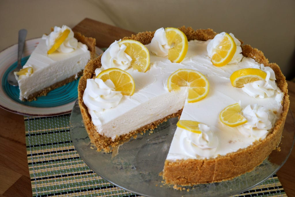 easy no bake CBD lemon cheesecake recipe