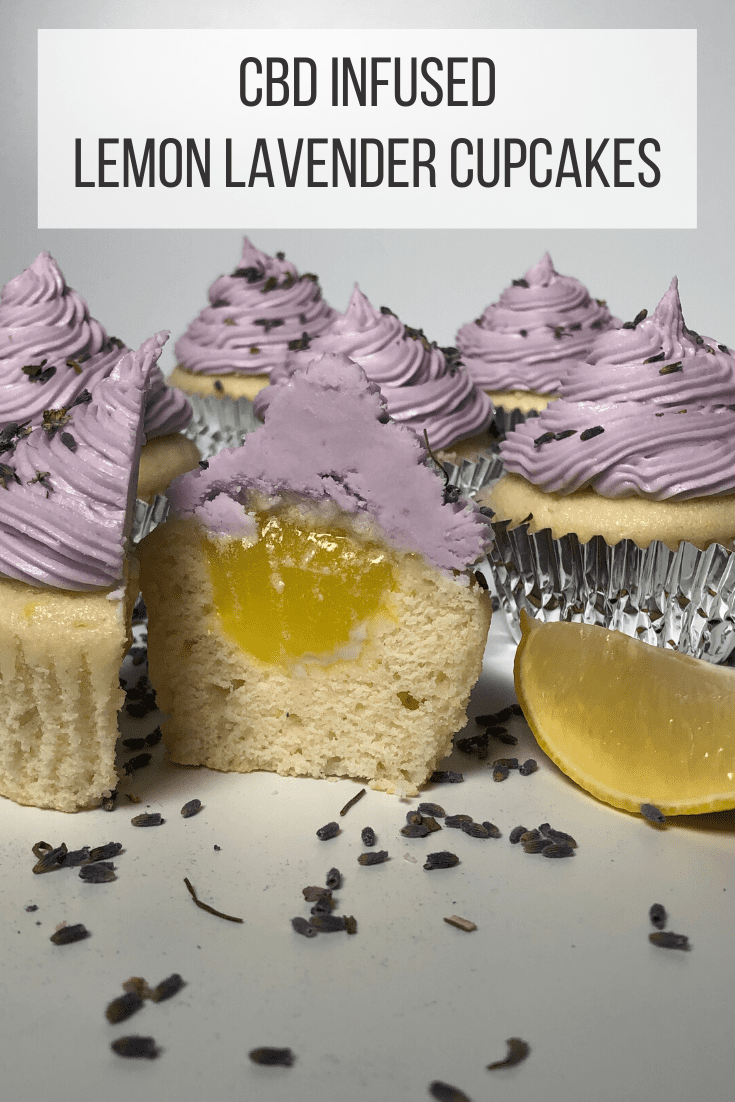 CBD Infused Lemon Lavender Cupcakes