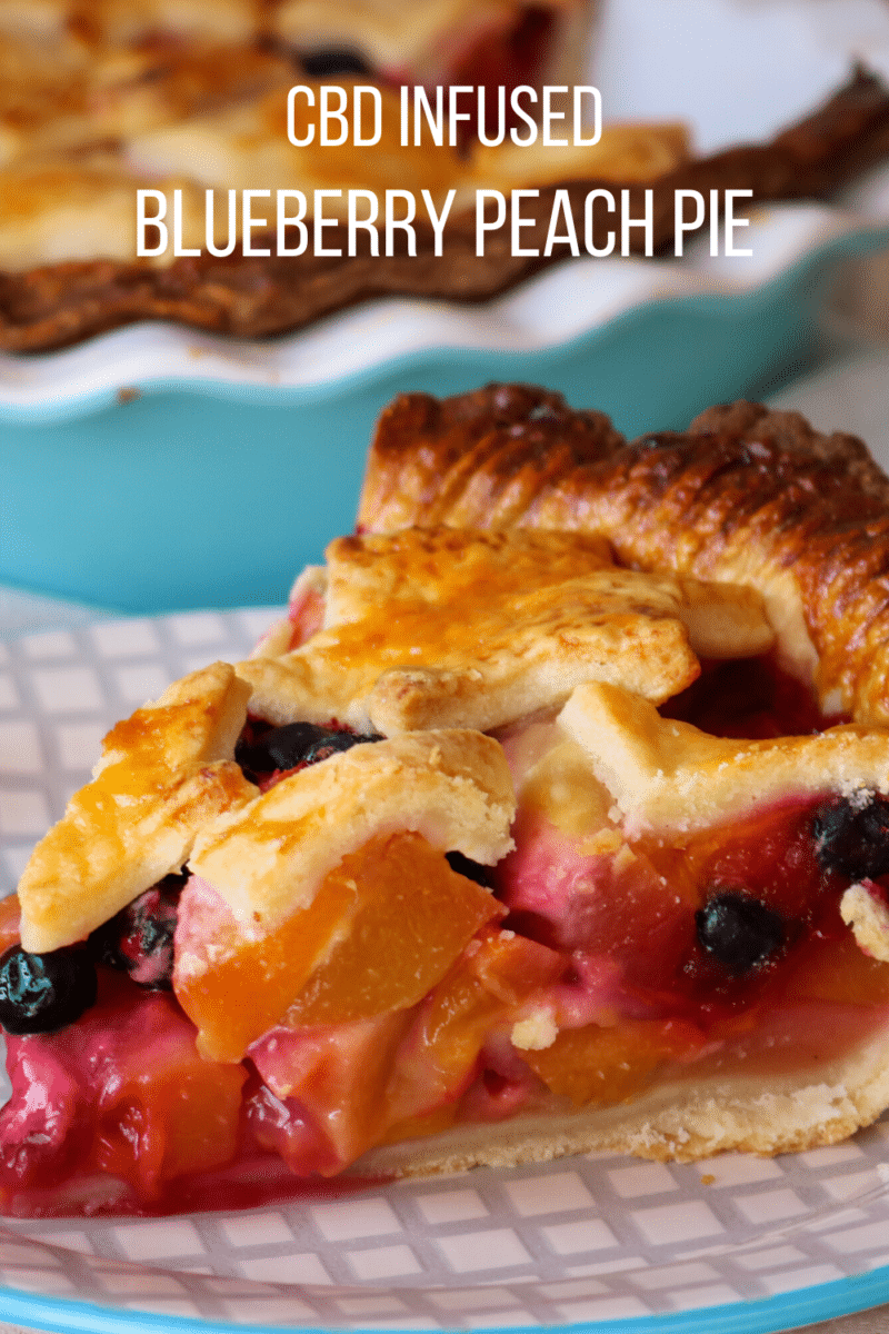 CBD Infused Blueberry Peach Pie